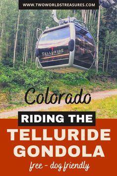 Looking for an epic things to do in Telluride Colorado? Riding a Telluride gondola is the one. It's free, you can ride with your dogs, and the views from the gondola are amazing. The gondola connects Telluride to Mountain Village above, and find more information on the ride from this article. #visitcolorado #visitusa Boulder Colorado, Colorado Springs, Telluride Colorado, Visit Colorado, Usa Travel Guide, Travel Usa, Travel Guides, Travel Tips, Travel Destinations
