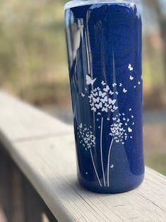 Diy Tumblers, Glitter Tumblers, Custom Tumblers, Glitter Wine, Glitter Cups, Orange Glitter, White Glitter, Tumbler Designs, Cup Design