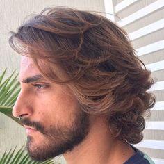 men's medium wavy balayage hairstyle – Men's Hairstyles and Beard Models Hairstyles Haircuts, Haircuts For Men, Straight Hairstyles, Cool Hairstyles, Latest Hairstyles, Mens Medium Haircuts, Men's Medium Hairstyles, Hairstyle Ideas, Pinterest Hairstyles