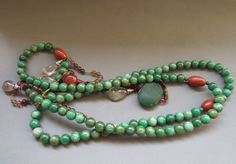 Ancient Chinese Jadeite Jade Bead Mandarin Court Necklace Long 47 Inch | eBay