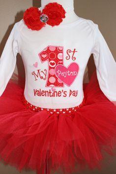 Girls My First Valentiine's Day Red TUTU by LittleGraceBowtique