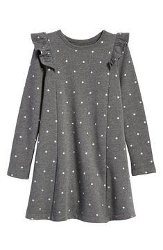 58bb088f9 Free shipping and returns on Tucker + Tate Ruffle Fleece Sweater Dress  (Toddler Girls,