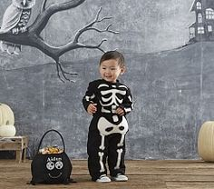 Costumes for Baby & Newborn Baby Costumes | Pottery Barn Kids |  Baby Glow-in-the-Dark Skeleton Costume  (on-line-only)