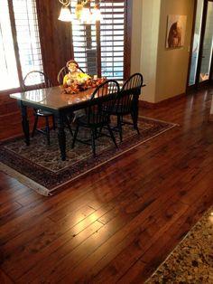 Summers Custom Floor Multi-Width Circle Sawn Hickory Flooring With Custom Stain Hickory Flooring, Shabby, Rustic, Inspiration, Home Decor, Country Primitive, Biblical Inspiration, Decoration Home, Room Decor