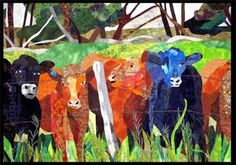Cows in the pasture quilt