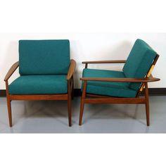 Danish Teak Lounge Chairs by Hans Olsen