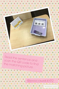 Read the sentence and scan the QR code to find the matching picture. EYFS