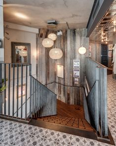 Gillespie Yunnie created a contemporary environment for restaurant Bistrot Pierre whilst still capturing traditional French culture and cuisine. Urban Rustic, Modern Rustic, Rustic Industrial, Rustic Style, Rustic Doors, Rustic Walls, Bedroom Rustic, Rustic Signs, Rustic Cottage