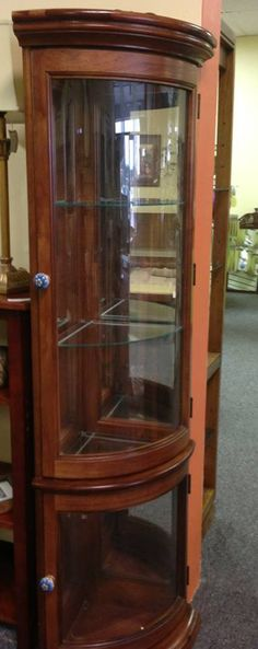 Corner Curio Cabinet .Available At New Beginning Consignments  Https://www.facebook