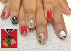 Chicago Blackhawks Nails - 2013 Stanley Cup Champions - NHL
