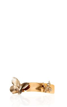 Gold And Silver Butterfly Barrette by Rodarte