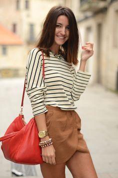 Neutral, stripes, red