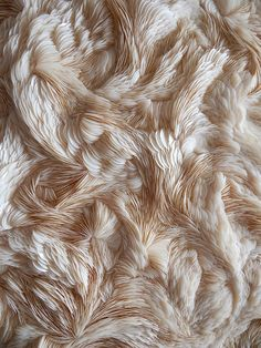 Experimental Textiles Design with intricate feather textures; fabric manipulation; textile art // Rowan Mersh