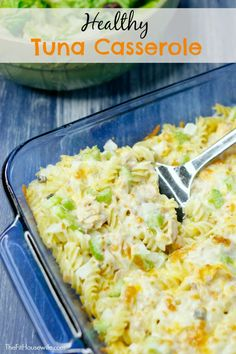 Healthy Tuna Casserole. A simple yet delicious tuna casserole the whole family will love!