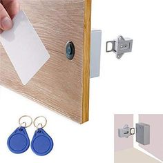 😲 Smart Induction Drawer Lock ✨One key for multiple locks: You can use one key (RFID card/hanger) to unlock multiple cabinet locks as needed. # Home Decor videos Smart Induction Drawer Lock