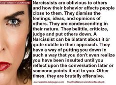 Narcissists should come with a warning label.