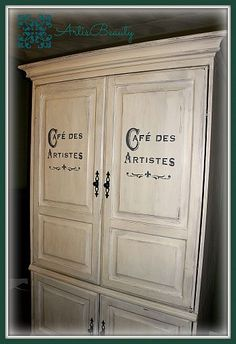 Come on over and see how I turned a free Entertainment... We got a free Entertainment Center and took it and turned it into a French wardrobe Armoire for our new French Sh...