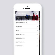 eCommerce store app for iOS (FREE Theme PSD) on App Design Served