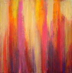 Abstract Acrylic Art Original Painting Textured by orabirenbaum, $220.00