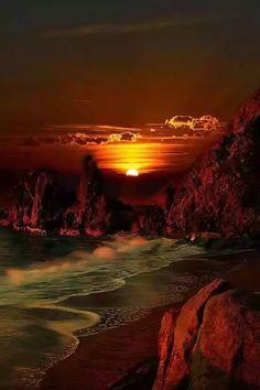Glorious sunset.....