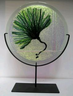 Fused glass portal by Judith Conway