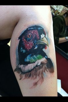 Painted style pheasant tattoo. I'd love to get one...
