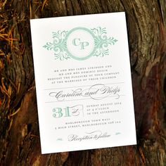Vintage 1920s Wedding Invitation 'Classic by twoforjoypaper