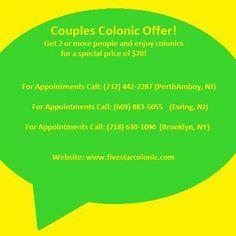 November Special! Enjoy colonics for a special price of $70!