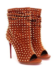 CHRISTIAN LOUBOUTIN | 'Guerilla' Studded Suede Ankle Boot | Browns fashion & designer clothes & clothing