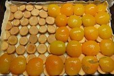 Ein einfacher Kuchen zum Verlieben: Blätterteig, Pudding, Löffelbiskuits und Obst. Im Originalrezept waren nur zwei Päckchen Puddingpulver angegeben. Ich fand das aber zu wenig, habe also noch ein Päckchen dazugegeben, um sicher zu gehen, dass der Kuchen auch fest wird. Er hat sehr lecker geschmeckt. Das nächste Mal werde ich ihn mit Heidelbeeren oder geriebenen Äpfeln probieren.