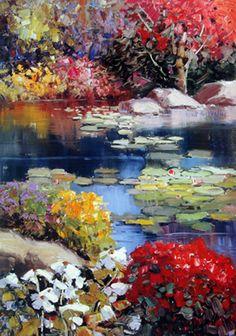 "Kent Wallis - ""Garden Pond"""