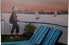 Atardecer en el Nilo, #Oil on canvas Si estas interesado en esta obra, ponte en contacto con nosotros en contacto@cincuentopia.com  http://cincuentopia.com