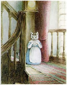 """Mrs. Tabitha Twitchit - Illustration by Beatrix Potter from """"Tale of Samuel Whiskers"""" published by Frederick Warne & Co (1908)"""