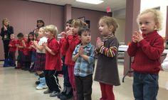 Preschool sings for supper..   Saint John the Evangelist Catholic School