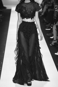 Runway Elegance - sheer pleated frill skirt & crop top // Ermanno Scervino Spring 2016