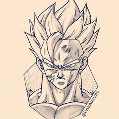 Dbz Drawings, Drawing Sketches, Drawing Art, Super Anime, Ball Drawing, Anime Furry, Anime Tattoos, Z Arts, Dragon Ball Gt