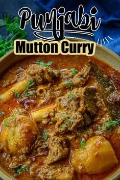 Make this super delicious Punjabi Mutton Curry just like a local. This curry is spicy, loaded with flavours and very easy to make. Here is how to make Punjabi Mutton Curry Recipe. Pork Curry Recipe, Mutton Curry Recipe, Curry Stew, Lamb Curry, Curry Goat, Beef Curry, Chicken Curry, Goat Recipes, Veg Recipes