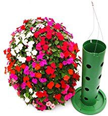 Includes Flower Tower with Deck Ring, Flower Tower (can also be attached to the Flower Tower to extend its height), Flower Tower, and wire hanger for each basket hangers). Full Sun Flowers, Summer Flowers, Diy Flowers, Hanging Flower Baskets, Flower Planters, Hanging Planters, Container Plants, Container Gardening, Bebidas Com Rum