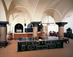 The kitchen at Castle Neuschwanstein.  I would love to cook in a kitchen like this.