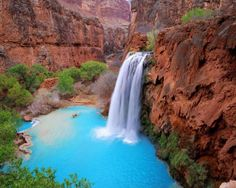 Havasu Falls in Havasupai, Grand Canyon, AZ