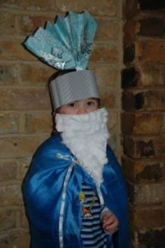 """Dressing up for Three Kings Day (6th Jan). Our """"end to Christmas"""" tradition."""