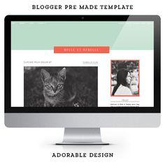 Modern premade Blogger template / Belle et Rebelle / Blog Design.