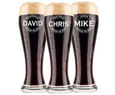 Personalized Beer Glasses, Groomsmen Pilsner Glass, Personalized Beer Glass, Beer Mug, Groomsman Gift, Gifts for Groomsmen Best Man Engraved Glasses, Groomsmen Gift