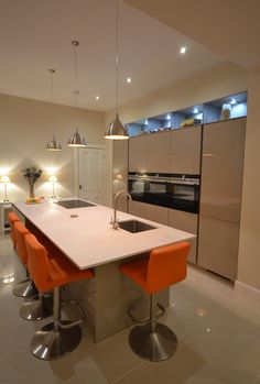 Kitchen Island Hob modern kitchen island with hob, sink and breakfast bar area. www