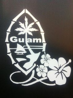 Guam Seal with Hibiscus. Might add this to my Hibiscus I already have. Proud of my heritage <3