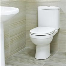 Aerial Compact Close Coupled Toilet with Luxury Soft Close Seat
