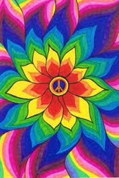 ☯☮ॐ American Hippie Psychedelic Peace Sign Flower Hippie Painting, Trippy Painting, Painting & Drawing, Hippie Drawing, Trippy Drawings, Art Drawings, Peace Sign Art, Peace Signs, Trippy Wallpaper