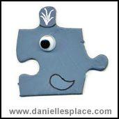 Whale Puzzle Piece Craft