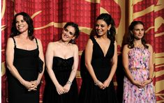 "Kibbe verified  (L-R)  Barbara Hershey (Soft Natural), Winona Ryder (Soft Gamine), Mila Kunis (Theatrical Romantic) and Natalie Portman (unknown) onstage at the ""Black Swan"" closing night gala during AFI FEST 2010"