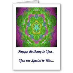 Birthday Card Green and Purple Kaleidoscope Design  http://www.zazzle.com/birthday_card_green_and_purple_kaleidoscope_design-137814880313989928